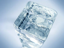 Glass or ice cube background Royalty Free Stock Images