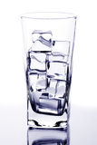 Glass with ice cubes Stock Photography