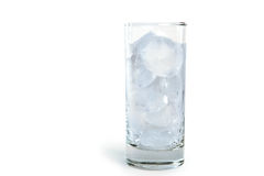 Glass with ice cubes Stock Image