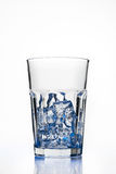Glass with ice cubes. Isolated on white background Stock Photography