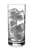Glass of ice cubes Royalty Free Stock Photography