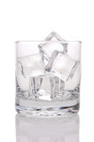 Glass of Ice Cubes Royalty Free Stock Images