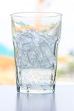Glass with ice cubes Stock Photo