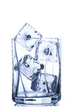 Glass with ice Stock Photography