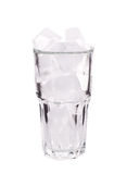Glass with ice cubes. Royalty Free Stock Images