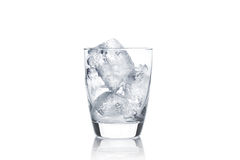 Glass with ice cubes Stock Images
