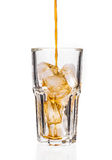 Glass with ice cubes. Stock Photo