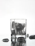 A glass with ice. Royalty Free Stock Image