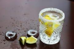 Glass ice lemon Royalty Free Stock Photos