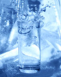 Glass, ice and pure water Stock Image