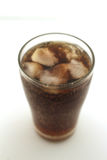 Glass of ice soda Stock Images