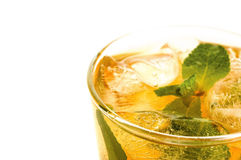 Glass of ice tea Royalty Free Stock Photography