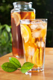 Glass of ice tea Royalty Free Stock Images