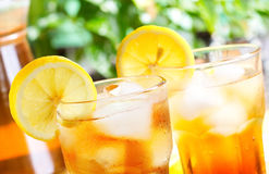 Glass of ice tea Stock Photography