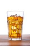 Glass of ice tea with lemon Stock Image
