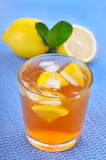 Glass of ice tea with lemon Royalty Free Stock Photography