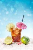 Glass of ice tea Royalty Free Stock Photos