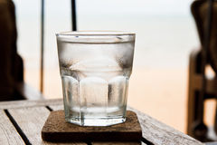 Glass of ice. Stock Photos