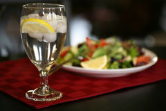 Glass of Ice Water Stock Images