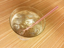 Glass of ice water Stock Photos