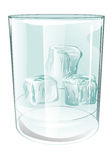 Glass of ice on white Royalty Free Stock Image