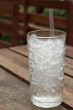 A glass with ice Royalty Free Stock Photo
