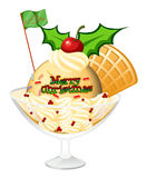 A glass of icecream for christmas Royalty Free Stock Image