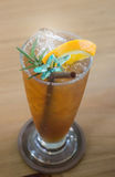 Glass of iced lemon tea Royalty Free Stock Photos