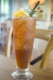 Glass of iced lemon tea Stock Image