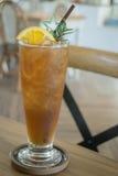 Glass of iced lemon tea Royalty Free Stock Photo