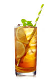 Glass of iced lemon tea Stock Photography