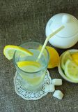 A glass of iced lemonade Stock Photography