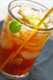 Glass of iced tea closeup Royalty Free Stock Image