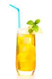 Glass of iced tea Royalty Free Stock Images