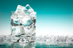Glass of iced water Royalty Free Stock Images