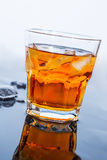 Glass of iced whiskey Royalty Free Stock Photography