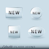 Glass icon collection Royalty Free Stock Images