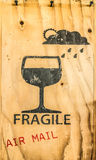 Glass icon of fragile Royalty Free Stock Photos