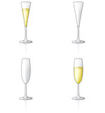 Glass Icon Set 60t Stock Photo