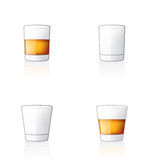Glass Icon Set 60w Royalty Free Stock Photography