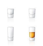 Glass Icon Set 60x, Vodka Shoo Stock Photo