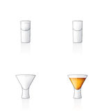Glass Icon Set 60y, Vodka Shoo Royalty Free Stock Image