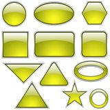 Glass Icon Set Lemon Stock Photo