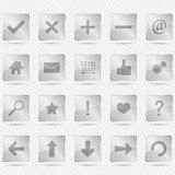 Glass Icons Royalty Free Stock Image