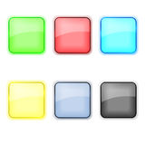 Glass Icons Royalty Free Stock Photo