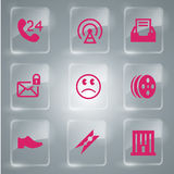 Glass icons vector icon set. A glass icons vector set Illustration Stock Photos