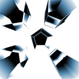 Glass/Icy Solids Background. An abstract Background containing glass looking solids royalty free stock photo