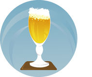 glass illustrationvektor för öl Royaltyfria Bilder