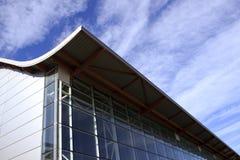 Glass industriell byggnad Royaltyfri Foto