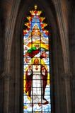 glass internt nedfläckadt för kyrklig konstruktion arkivfoto